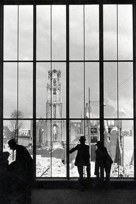 Historisch Rotterdam, Ruine Laurenskerk 1940, Stadsarchief