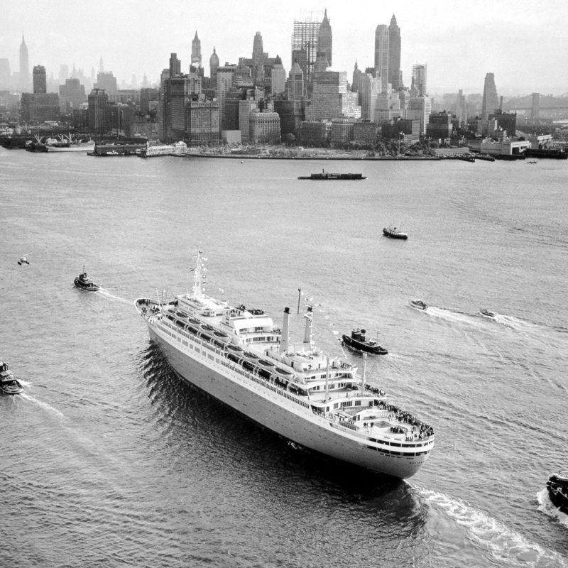 Historisch Rotterdam, SS Rotterdam voor New York 1959, Harry Mosch