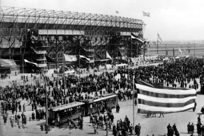 Rotterdam, Feyenoord Stadion de Kuip, openingswedstrijd 1937