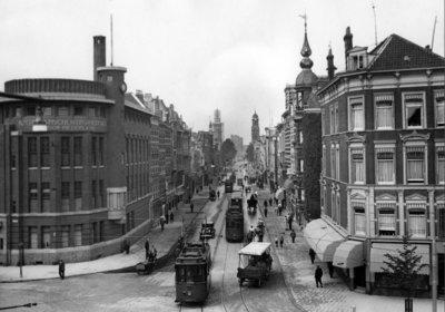 Historisch Rotterdam, Witte de Withstraat jaren 30, Uitgeverij Voet