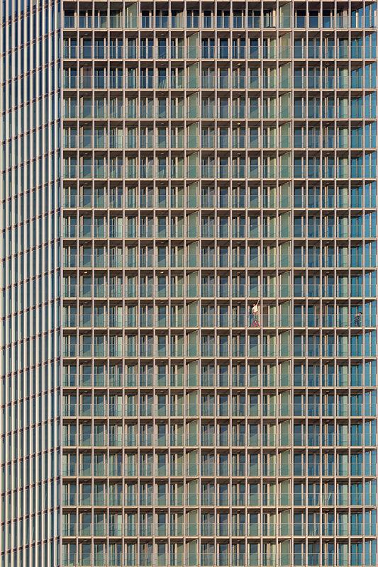 Modern abstract Rotterdam, de ramen van de Rotterdam, Ossip van Duivenbode