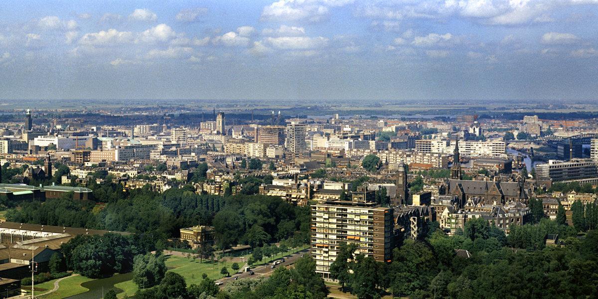 Historisch Rotterdam, Panorama vanaf de Euromast 1967, Harry Mosch