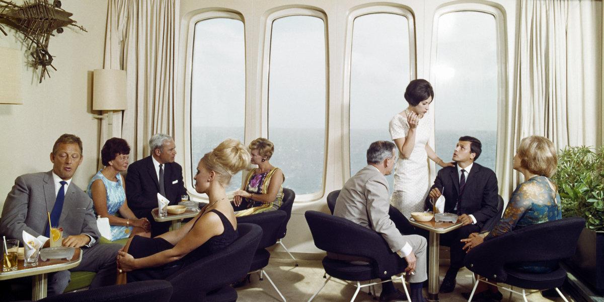 Historisch Rotterdam, SS Rotterdam 1967, de witte salon,  Harry Mosch