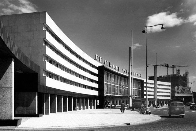 Historisch Rotterdam, Centraal Station, 1957: Jan Roovers