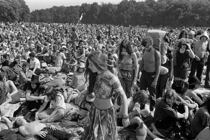 Historisch Rotterdam, popfestival Kralingen 1970 foto: Anefo