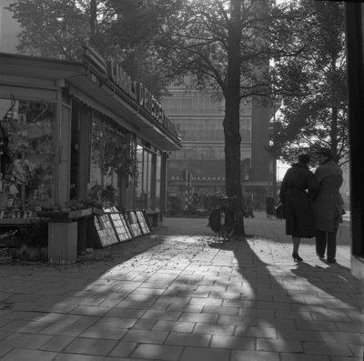 Historisch Rotterdam, Coolsingel hoek Meent 1955, Jan Roovers