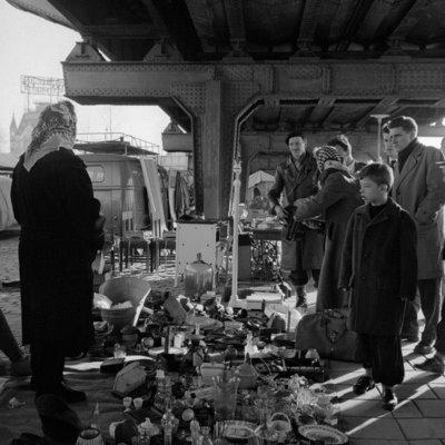 Historisch  Rotterdam, Binnenrotte met de Markt, Jan Roovers