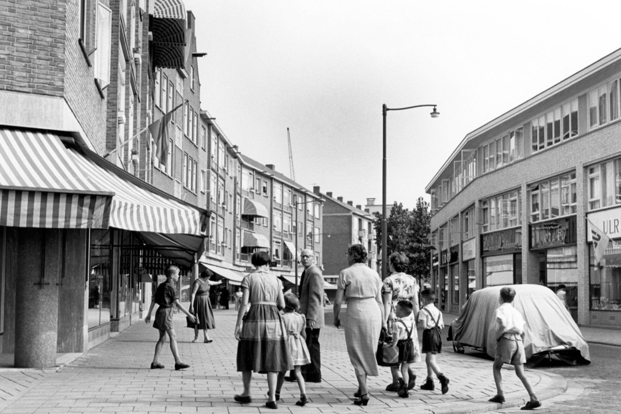 Historisch Rotterdam, Pannekoekstraat 1955: Jan Roovers