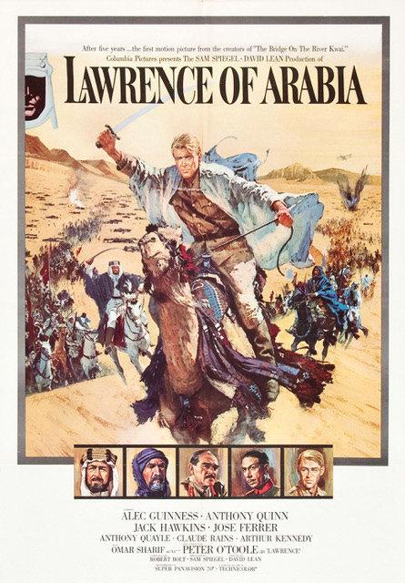 Rest van de wereld, filmposter Lawrence of Arabia