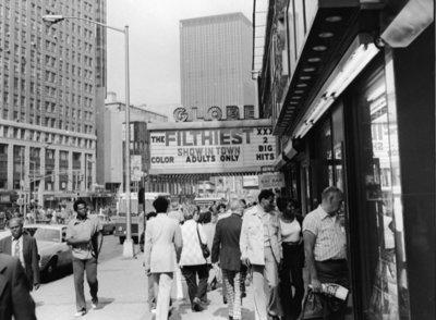 Rest van de wereld, straatbeeld New York 1970