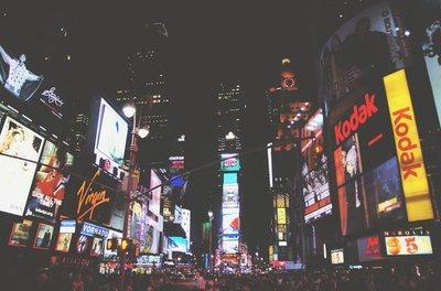 Rest van de wereld, straatbeeld Times Square New York 1970