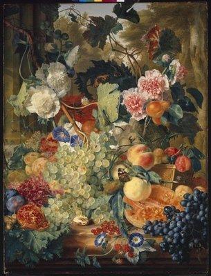 Rest van de wereld, stilleven 17e eeuw, Jan van Huysem