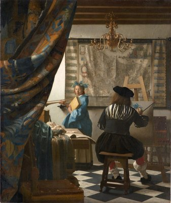 Rest van de wereld, schilderij 17e eeuw, Vermeer