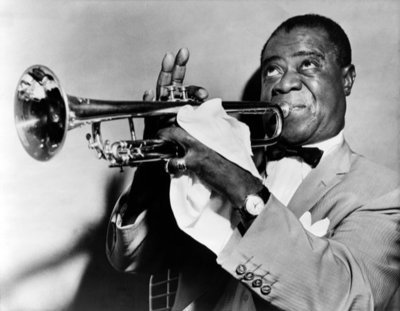 Rest van de wereld, jazz trompettist Louis Armstrong