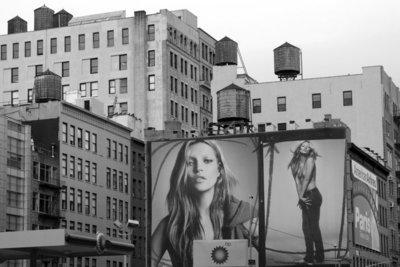 Rest van de wereld,  straatbeeld New York, Kate Moss