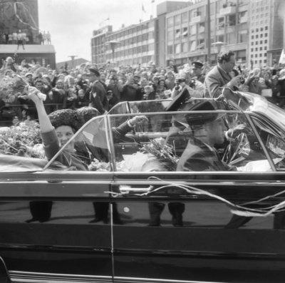 Historisch Rotterdam prinses Beatrix in Rotterdam jaren 60