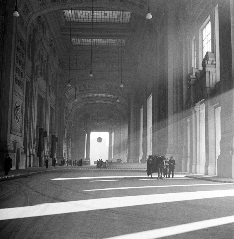 Straatbeeld Milaan jaren 50