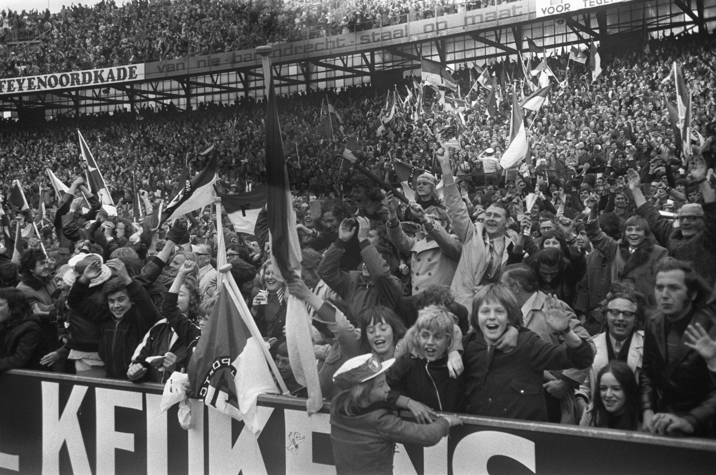Rotterdam, Feyenoord Stadion de Kuip, publiek 1962
