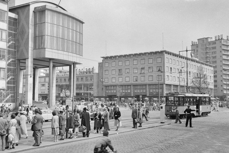 Rotterdam,  Historisch Rotterdam coolsingel Beursplein 1963