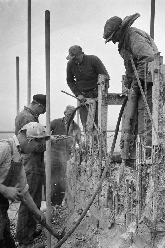 Rotterdam,  Historisch Rotterdam afbraak oude bijenkorf 1959