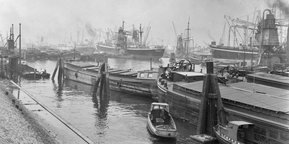 Historisch Rotterdam, Maashaven 1956
