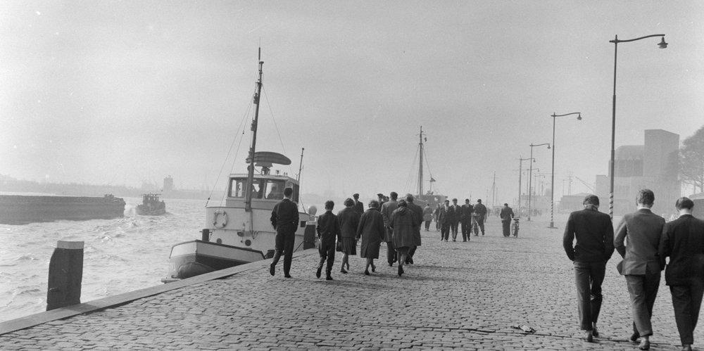 Historisch Rotterdam, flaneren op de Parkkade 1961