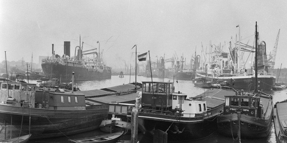 Historisch Rotterdam, Maashaven 1958