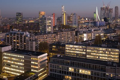 Modern Rotterdam Luchtopname binnenstad  2017, Ossip van Duivenbode
