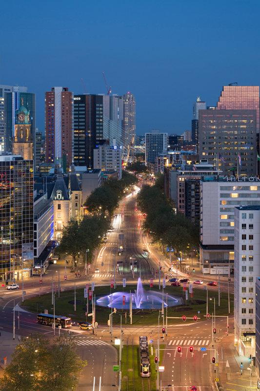 Modern Rotterdam Centrum, Coolsingel en Hofplein, Ossip van Duivenbode