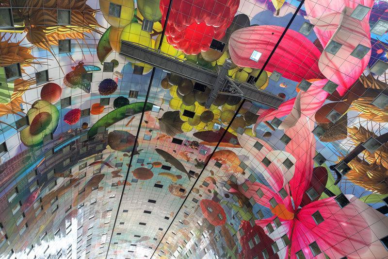 Abstract Rotterdam Centrum, markthal, Ossip van Duivenbode