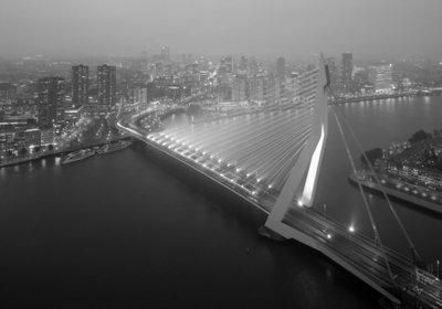 Modern Rotterdam, Erasmusbrug richting centrum  Ossip van Duivenbode
