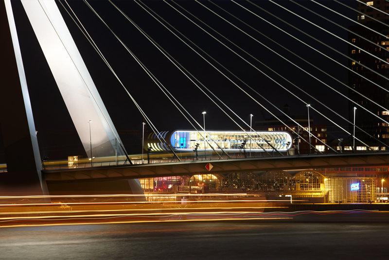 Modern Rotterdam,  Erasmusbrug Kop van Zuid Huib Nederhof