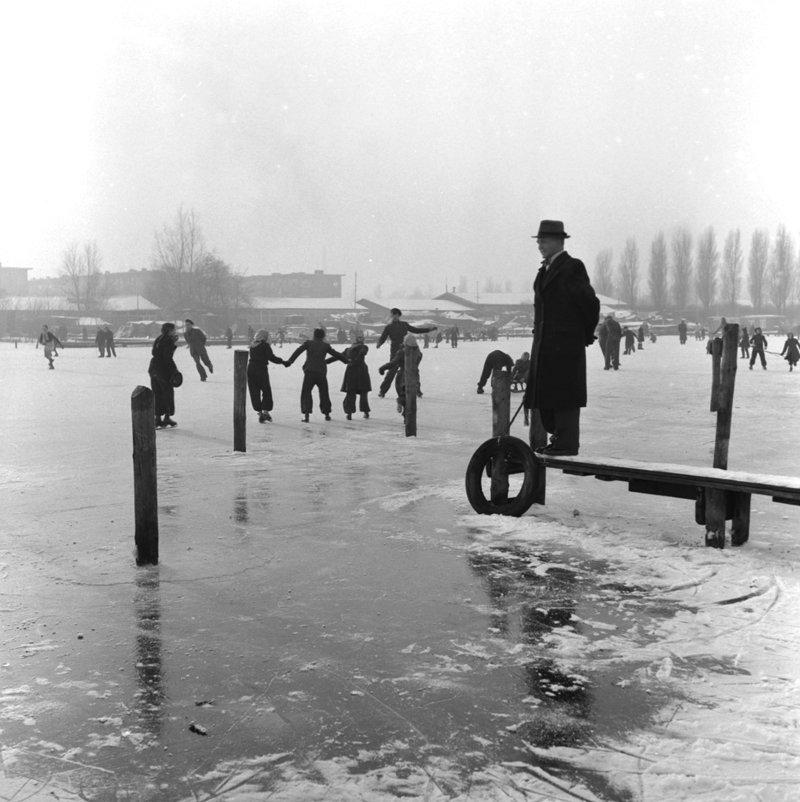 Historisch Rotterdam, Kralingse Plas 1951 Jan Roovers