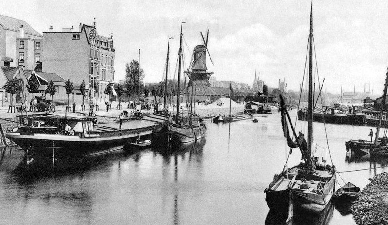 Historisch  Rotterdam, Admiraliteitskade 1910, Stadsarchief Rotterdam