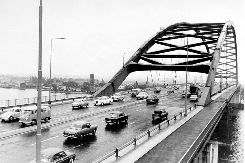 Historisch  Rotterdam, Brienenoordbrug 1965, Stadsarchief Rotterdam