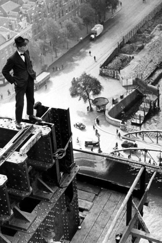 Historisch Rotterdam  bouw Hefbrug 1928, Stadsarchief Rotterdam