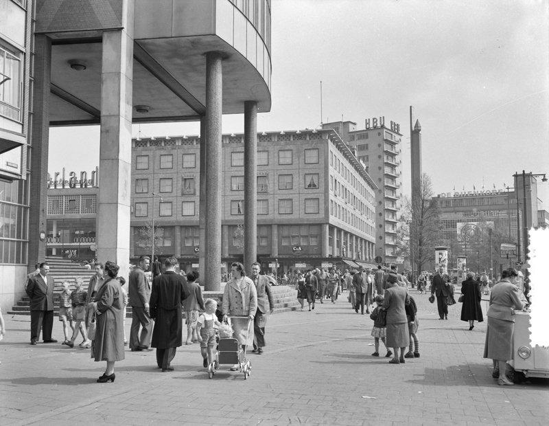 Historisch Rotterdam, Coolsingel Beursplein 1963 , fotograaf: Anefo