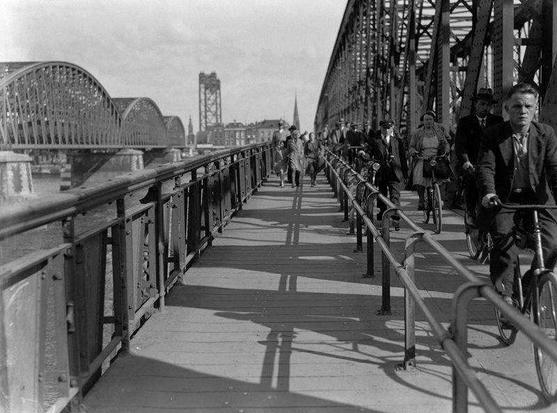 Historisch Rotterdam, Willemsbrug 1930 , fotograaf: Anefo