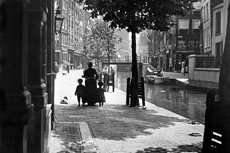 Historisch  Rotterdam, Delftsevaart 1905 Henri Berssenbrugge, Stadsarchief Rotterdam