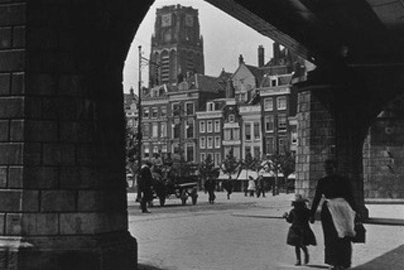Historisch  Rotterdam, Grote Markt 1895 met spoorviaduct , Stadsarchief Rotterdam