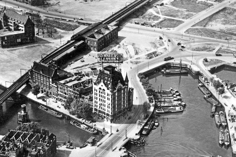 Historisch  Rotterdam, Luchtfoto Oude Haven na het bombardement Witte Huis , Stadsarchief Rotterdam