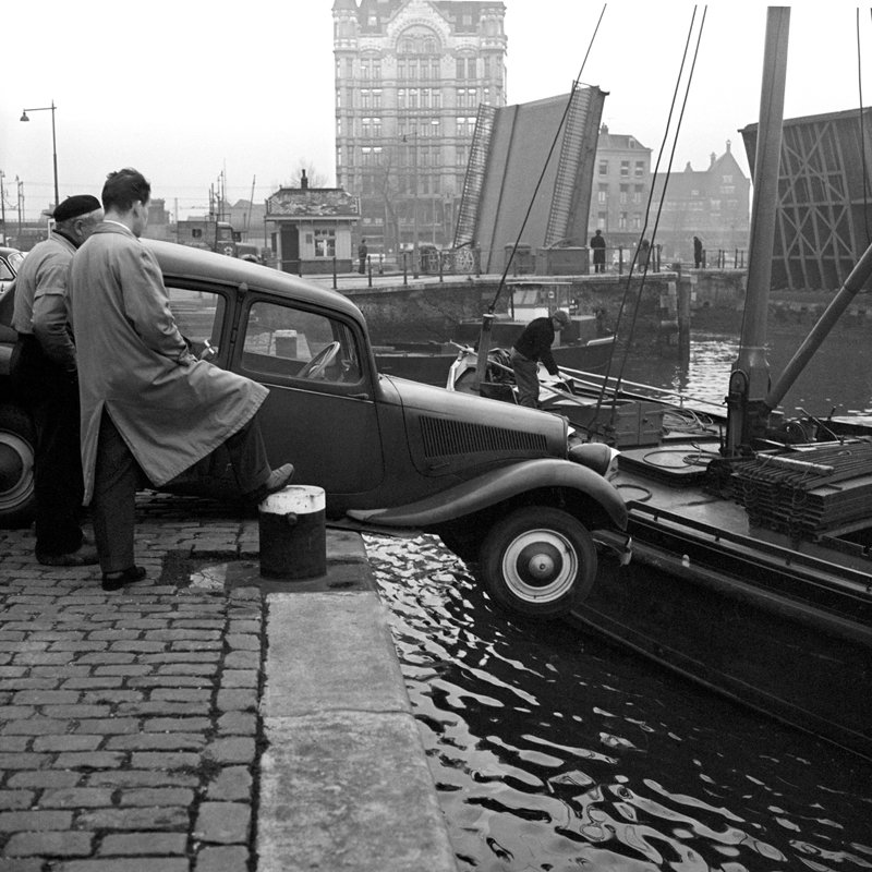Historisch Rotterdam, Haringvliet Oude Haven Witte Huis 1955, Stadsarchief