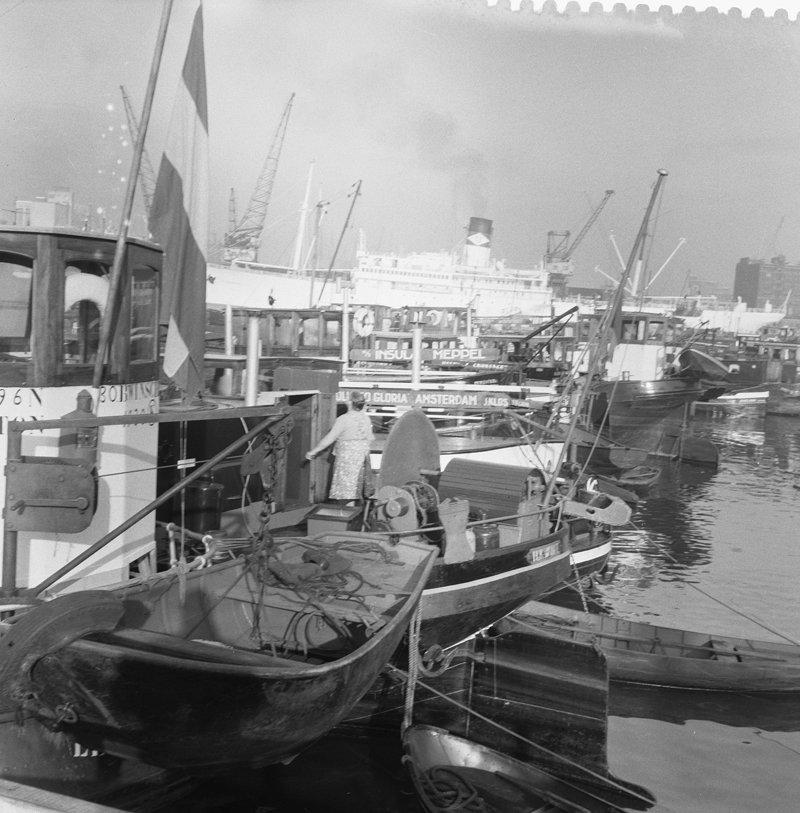 Historisch Rotterdam Binnenvaart 1960, Anefo