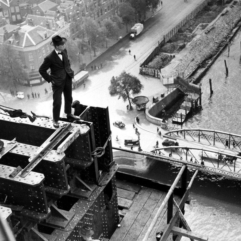 Historisch Rotterdam, Bouw Hefbrug 1928,  Stadsarchief