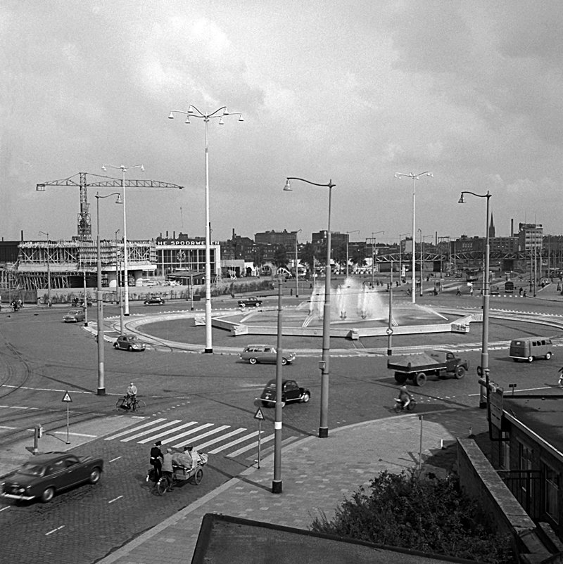 Historisch  Rotterdam, Hofplein 1958, Jan Roovers