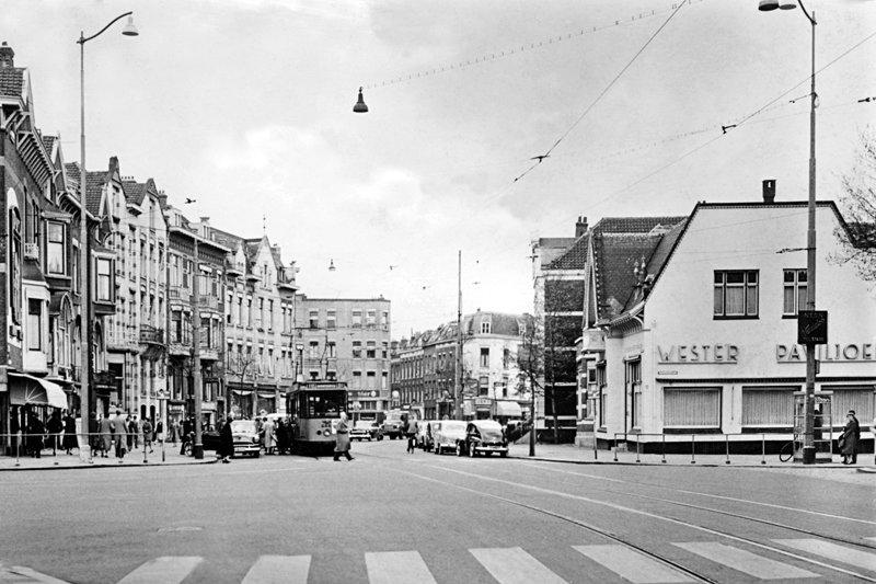 Historisch Rotterdam, Nieuwe Binnenweg Westerpaviljoen, 1957: Jan Roovers
