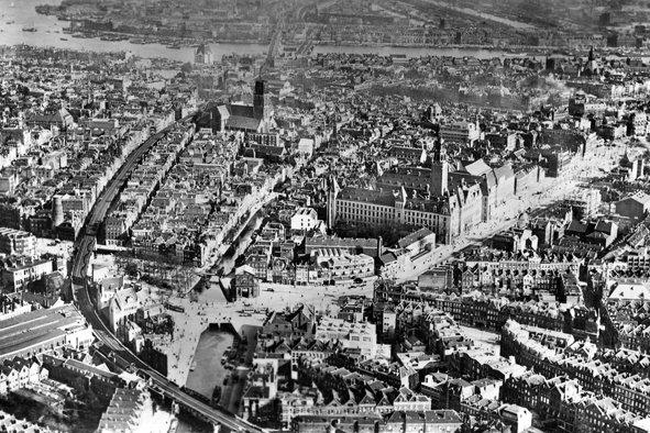 Historisch Rotterdam, luchtfoto 1935, Stadsarchief