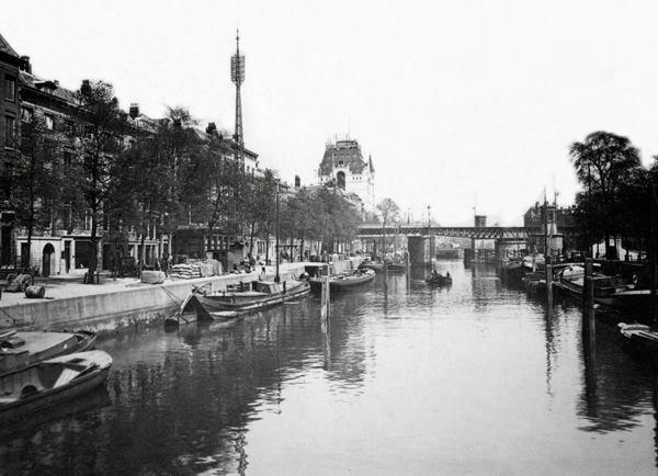 Historisch Rotterdam, Wijnhaven met Witte Huis 1915, Stadsarchief