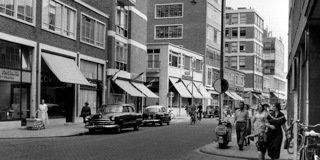 Historisch Rotterdam, Beursplein Westewagenstraat 1952