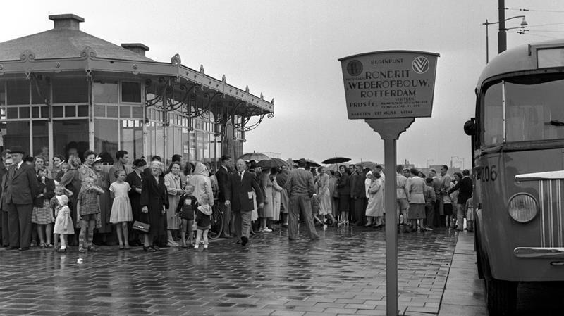 Historisch Rotterdam, Wederopbouwrit, Weena, jaren vijftig, Vrije Volk